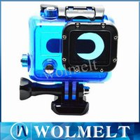 Wholesale High quality underwater Waterproof Housing Case for Gopro HD Hero Diving Camera Camcorder Helmet DHL