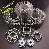 aluminum radiators - LED Heatsink Aluminum Base Radiator For W W High Power LED Cooler Sunflower UFO Round PCB Radiator LED Lamp DIY