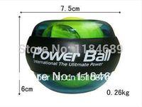 Wholesale Blue PowerBall Gyroscope LED Wrist Strengthener Ball Wrist Power Force Ball Free Shiping