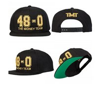 Wholesale new Cheap Mayweather Pacquiao Black Snapback Hat TMT D Embroidered TBE MayPac Money Adjustable Baseball CAP HAT Fashion ball CAPS HATS