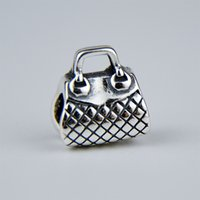 bag flags - Charm Bracelets sterling silver Bracelet Silver Pandora Beads for Loose Beads Jewelry DIY with Bag PDL022