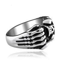 Wholesale 316L Stainless Steel Ring Skeleton Skull Punk Rings For Men