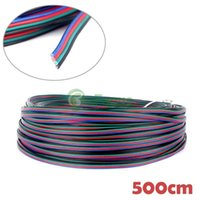 Wholesale 5M Flexible Extension Cable Pin Cord Wire for RGB LED Strip Light