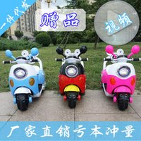 Wholesale New Mickey Mulan children tricycle motorcycle car battery electric car with light and music can take charge
