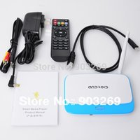 Wholesale 1set CX Android TV Box RK3188 Quad Core Mini PC RJ USB WiFi XBMC Smart TV Media Player with Remote Controller