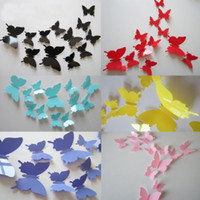 bedroom set designs - 12Pcs a set Set a D Realistic Butterfly Sticker Art Decal Wall Stickers Home Decorations