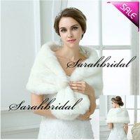 Wholesale New White Faux Fur Pearl White Black Winter Shrug Capes Stole Wrap Shawl Wedding Bridal Bride Bridesmaid Cheap Real Image
