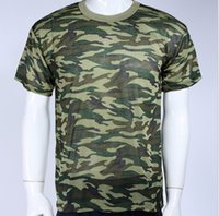 Cheap Mens' Camouflage Camo Military Army Outdoors Hunting Fishing T Shirt Cotton Woodland Camo Green Color cool T-Shirt