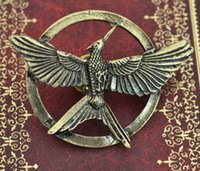 Wholesale High quality New Arrival Movie Jewelry The Hunger Game Bird Brooches Alloy Pins Couple Brooches