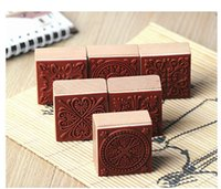 Wholesale New Styles DIY Scrapbooking Lace Stamps Vintage Flower Wood Rubber Craft Ink Pad Stamp Wax Seal Stamp
