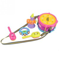 Wholesale New Hot set Kids Roll Drum Musical Instruments Band Kit Children Toy Gift Set order lt no track