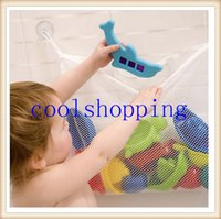 bathroom wire basket - DHL Freeshipping Creative Folding Eco Friendly High Quality Baby Bathroom Mesh Bag Child Bath Toy Storage Bag Net Suction Cup Baskets