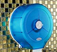 Wholesale Large high end bathroom toilet tissue box tissue box transparent blue