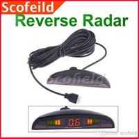 Wholesale Car LED Parking Reverse Backup Radar System with Backlight Display Sensors RainProof Black