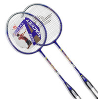Wholesale New Arrived Hot Pair Badminton Racket High strength Durable Carry Bag Aluminium Alloy Light Weight Thinnest Shaft Badminton Racquet