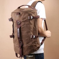 Wholesale 100 Brand New Portable Canvas Man Backpack Rucksack Travel Outdoor Duffle Bag Colors