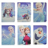 atom mid - Universal Adjustable Cartoon Elsa PU Leather Stand Case Cover For inch Tablet PC MID Samsung Galaxy Tab iPad Mini Air