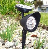 auto yard - Bright Outdoor LED Solar Spotlight Powered Light for Garden Pathway Yard Lawn Solar Energy Exterior Lighting Auto on at Night