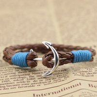 antique music supply - MYLB0072DH Factory Supply Fashion Jewelry mm PU Leather Bracelet Antique Silver Plated Vintage Retro Style Gift