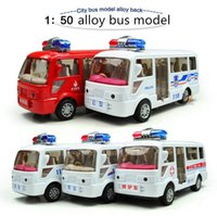 ambulance bus - 1 Alloy Police fire bus ambulances bus pull back model buses car toy