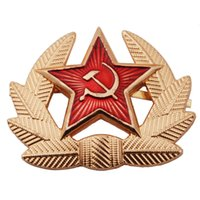 metal badges military - USSR SOVIET RUSSIAN MILITARY M1955 METAL HAT BADGE