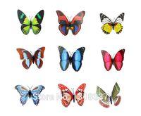 Wholesale 50pcs cm Artificial Butterfly Fridge Magnet Note Holder Home Office Scene Decor Christmas Business Gift