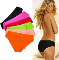 panties sexy - Sexy Briefs Fabric Ultra thin Comfortable Underwear women Seamless Panties for Ladies Girls seamless Briefs for gf gift