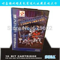 Wholesale 2015 Updated Sega games card Aleste with box and manual for Sega MegaDrive Video Game Console bit MD card