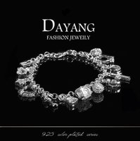 chain hooks - Retail Hanging Pieces Of Silver Bracelet Lowest Price Crystal Christmas Gift New Silver Fashion Bracelet