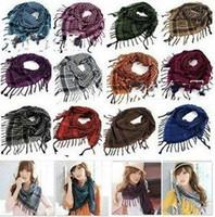 arab neck scarf - Unisex Checkered Arab Shemagh Grid Neck Scarf Wrap High Quality