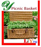 easter baskets - Wicker picnic basket storage baskets with handles zakka wire basket decoration folding lid clasps easter basket wedding cloth cabinet box