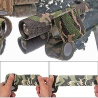 Wholesale 5CMx4 M Camo Waterproof Wrap Hunting Camping Hiking Camo Camouflage Stealth Self Adhesive Tape for Gun Cloths