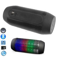 Wholesale zPulse Portable Wireless Bluetooth Speaker Led Brighten MP3 Players Mini Speaker For iphone Smartphone Support TF Handsfree New