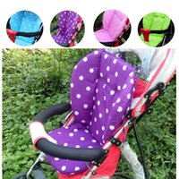 baby buggies - 2015 Baby Infant Thick Pushchair Mat Dot Liner Cover Stroller By Pram Seat Cushion