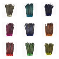 Wholesale Multi Dyed Colors Pheasant Tail feathers inches cm For Your DIY Crafts