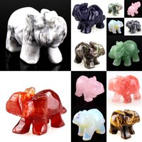 elephant figurines - Carved Elephant Figurine quot Decoration for Car Home Garden More Material To Selece