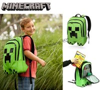 Wholesale 2015 Minecraft Creeper Backpack Minecraft Bags Children School Bags Minecraft Creeper backpacks My world schoolbags