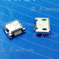 Wholesale Micro USB P pin Micro USB Jack Pins Micro USB Connector Tail Charging socket