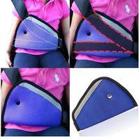 Wholesale 2015 colors car Safe Fit Seat Belt Adjuster car safety belt adjust device baby child protector positioner Breathable R000994