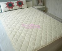 Wholesale Export end of a single cut standard cotton quilted mattress pad bed mattress pad