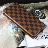 Wholesale New fashion Men Wallets Male Purse PU Leather Wallet Zipper Men s Leather Wallet Clutch Purses Day Clutches Mens Wallets