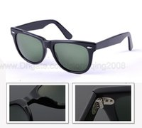 Wholesale Hot sale Hinge Metal sunglasses women brand designer men eyewear UV black green lenses mm brown box