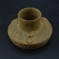 antique banjo - Autumn primitive celadon porcelain jar jug ears Banjo do the old antique porcelain ornaments Vintage Collection