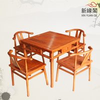 dining table and chair - Mahogany furniture rosewood dining table and chairs child dual wood side table antique chess tables Five piece