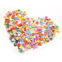 Wholesale 100 Plastic Buttons Sewing Holes mm Button DIY Craft decals for Children Shapes