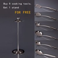 Wholesale Top Grade Stainless Steel Cookware Set of Turner Spaghetti Spoon Steak Spatula Soup Spoon Tea Spoon with Free Dry Rack order lt no tra