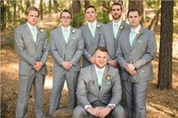 best cheap suits - Custom Made Silver Grey Bridegroom Suits For Wedding Best Men Tuxedos One Buttons Casual Cheap Mens Suits Jackets Vest Pants Tie