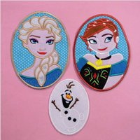 Wholesale 3 Designs frozen iron on patches Frozen olaf snowman elsa anna embroidery patch iron on garment cloth patches kids gift Frozen A