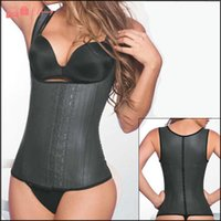 beauty woman body - 2015 New Latex Vest Waist Cincher Chest Binder Body Shaper Corrector For Women Corset Slimming Plus Size Waist Training Corset Beauty