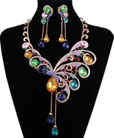 artist earrings - wedding jewelry set exotic artist multicolors necklace earrings NJ Neoglory Jewelry outlets Rihood Jewelry
